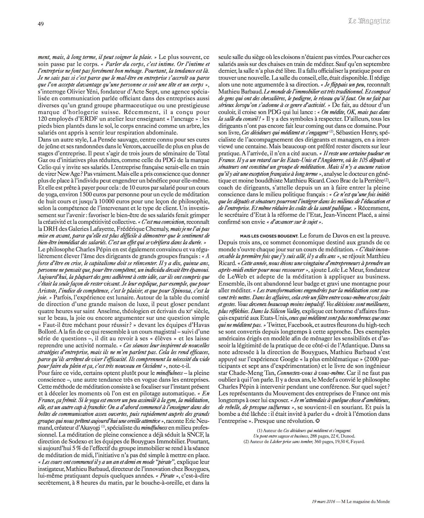 M Le Monde, page 2