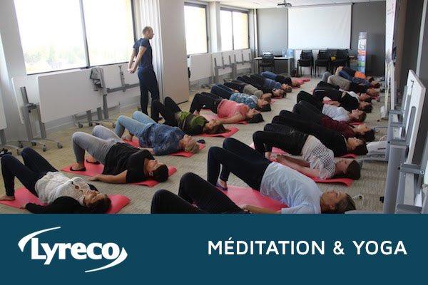 Lyreco - ateliers de Yoga et de Méditation au travail par Akayogi